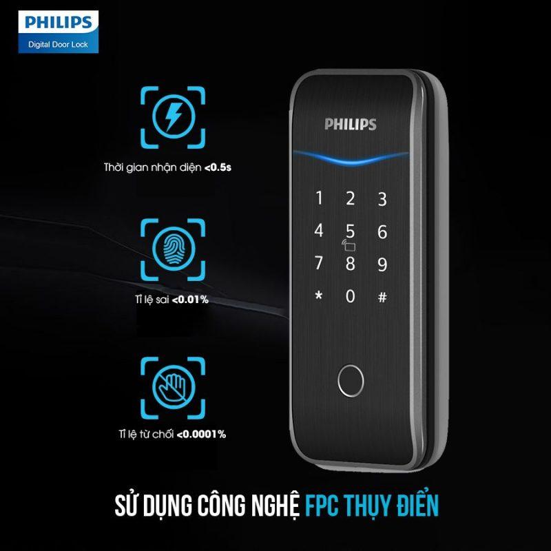 2. Khóa cửa thông minh Philips5100-5H đa dạng phương thức mở khóa