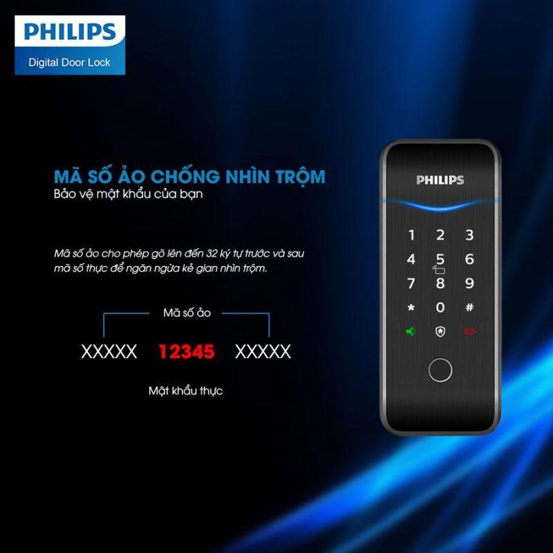3. Khóa cửa điện tử Philps5100-5H an toàn tuyệt đối