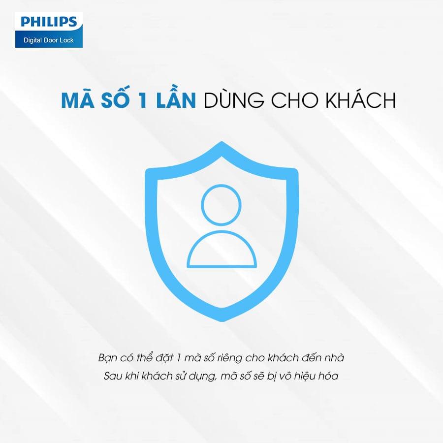 7. Khoá điện tử Philips 5100-5HBKS với mã số ảo chống nhìn trộm