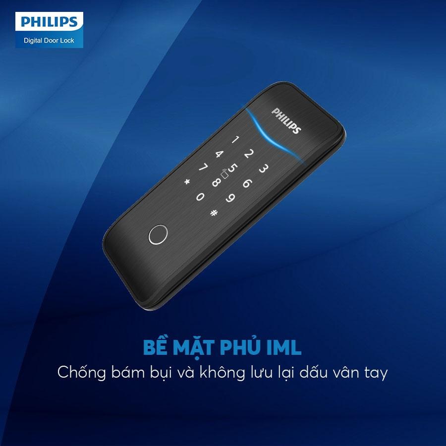 2. Bề mặt khoá điện tử Philips 5100-5HBKS phủ IML cao cấp